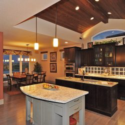 Custom Home Kitchen With Islands