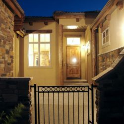 Custom Home Entryway and Gate