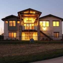 Exterior Shot of the Back of This Luxury Home - Classic Custom Builders