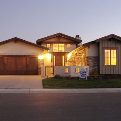 New Luxury Custom Home at Dusk - Classic Custom Builders