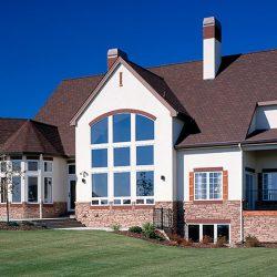 Custom Built Home Exterior Windows