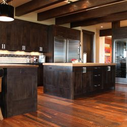 Custom Kitchen With Warm Wood Features Banner