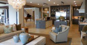 Custom Home Living Room for Retirees