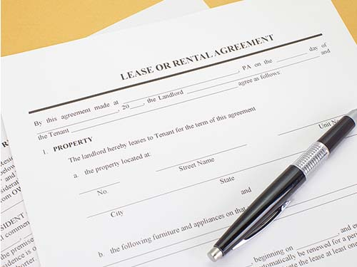 Image of a rental agreement