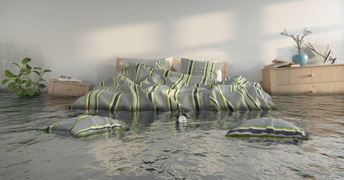 flooded bedroom