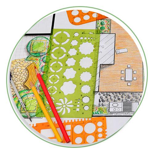 Photo of landscape design plans