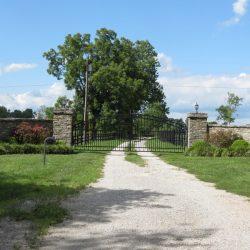 East Stone Entrance of Clover Hill Farm in Paris, KY
