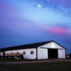 A horse boarding facility at Clover Hill Farms