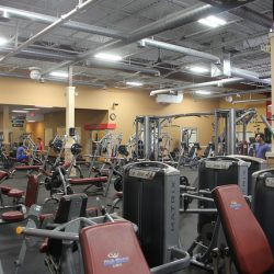 workout equipment at Club Metro