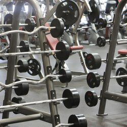 free weights at Club Metro