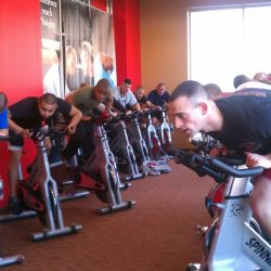 Spin class at Club Metro