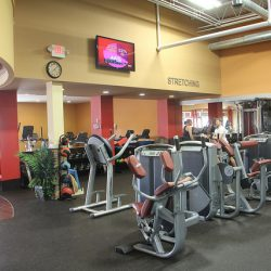 Club Metro USA workout machines and TV