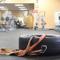 tire and workout equipment