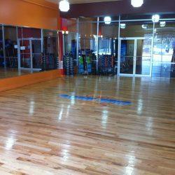 Club Metro USA wood floor entrance