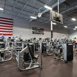 Club Metro USA workout equipment view