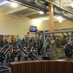 Club Metro USA workout floor and exercise machines
