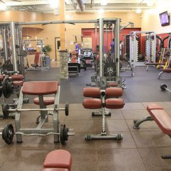 Club Metro USA workout equipment gym floor