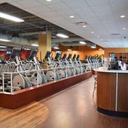Club Metro USA front desk and exercise equipment