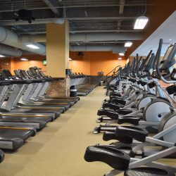 Club Metro USA rows of treadmills and ellipticals