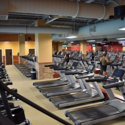 Club Metro USA rows of treadmills and workout equipment