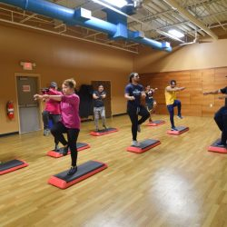 step workout session Club Metro USA