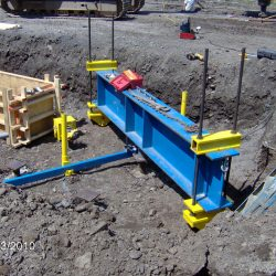 In the trench testing for structural integrity of the ground by CMI Solutions