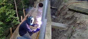 Welding and retention by CMI Structural