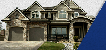 residential home with garage doors