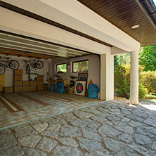 residential garage door open