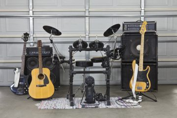 Instruments in a garage