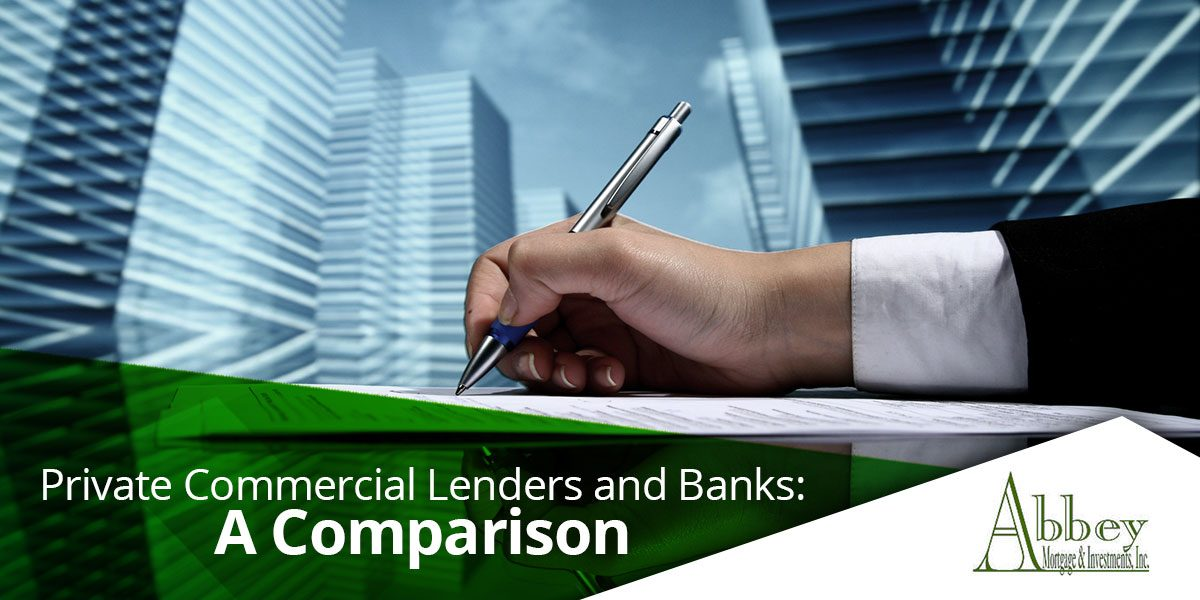 private commercial lenders and banks a comparison
