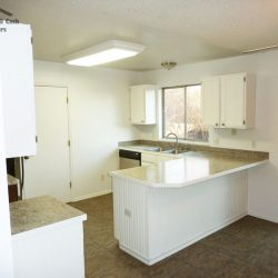 Finished kitchen of home in Fort Collins that was sold to all cash house buyers
