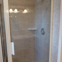 Remodled shower on unwanted property after Colorado All Cash flipped it once it was purchased for an all cash home offer