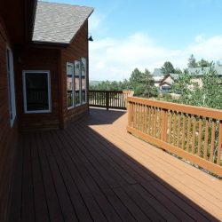 Rustic deck of unwanted real estate that sold to all cash home buyers