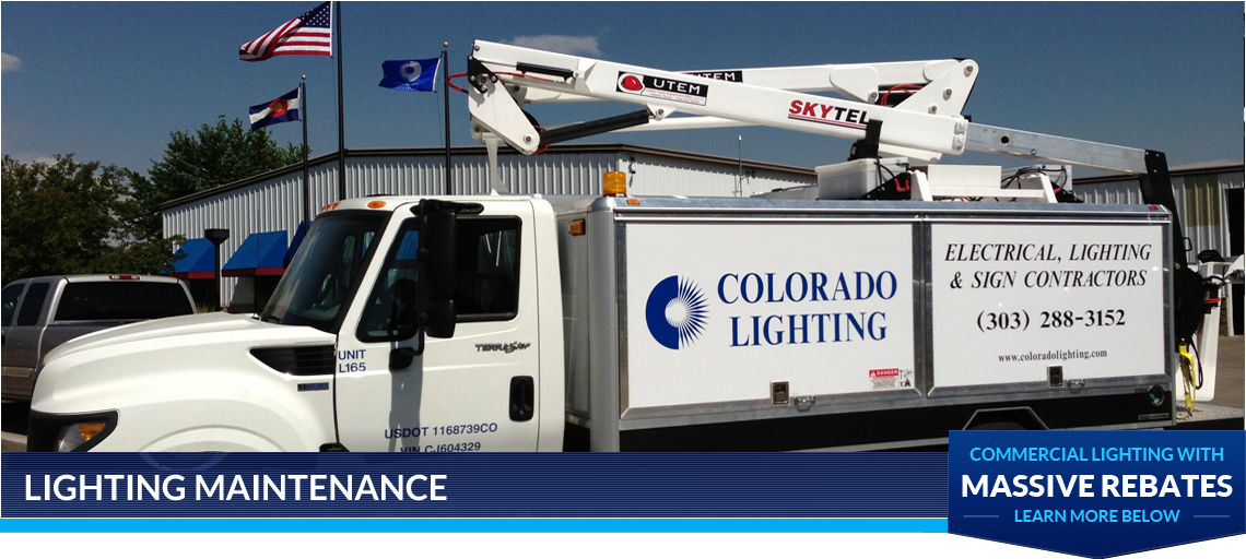 Commercial lighting denver electrical contractor lighting commercial lighting denver electrical contractor lighting maintenance solutions mozeypictures Choice Image
