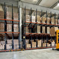 A forklift working in a warehouse - Colorado Pest Management