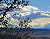 A view of clouds and Colorado plains