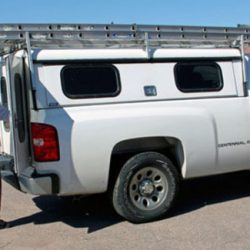 Side view of a Colorado Pest Management service truck - Colorado Pest Management