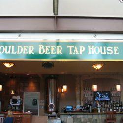 Outdoor metal business sign Boulder