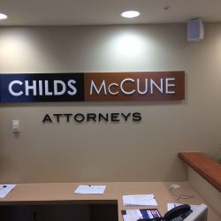 Indoor metal business sign customized