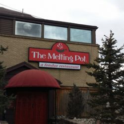 The Melting Pot Outdoor Sign - Denver