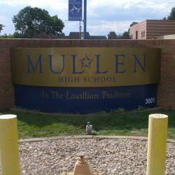 Custom metal sign high school
