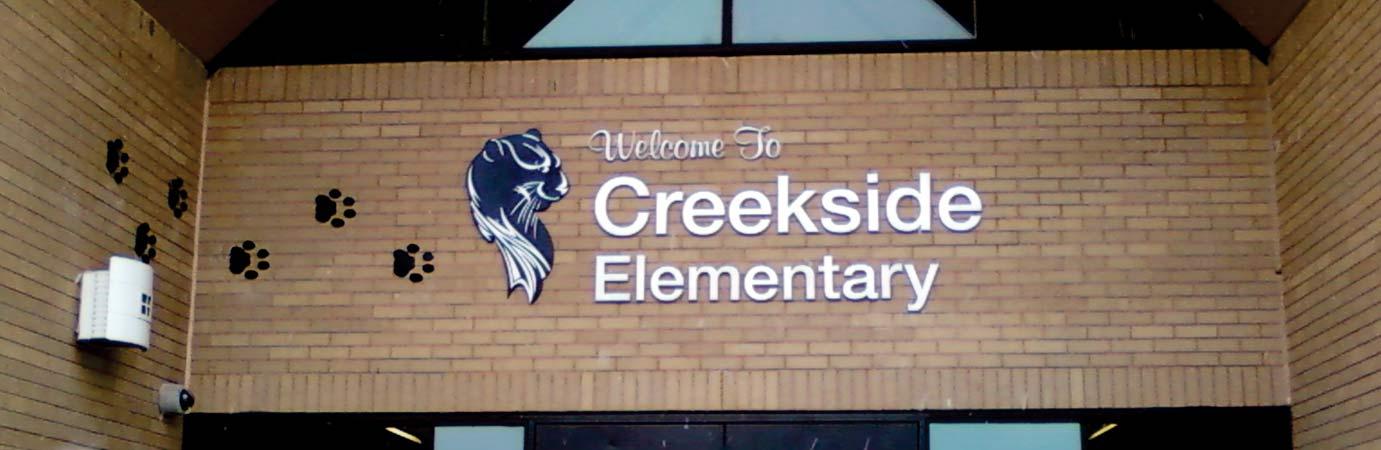 Metal Sign Makers Elementary School