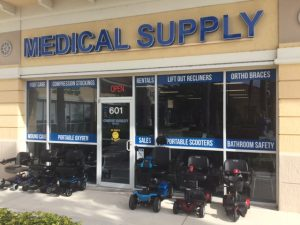 View of Comfort Mobility storefront in Boynton Beach