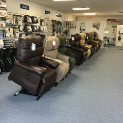 Selection of power lift sleeper chairs - Comfort Mobility