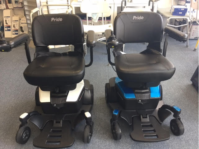Power wheel chairs with joystick controls - Comfort Mobility