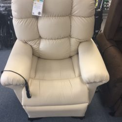 Beige power lift sleeper chair - Comfort Mobility
