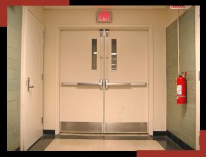 steel doors with panic bars
