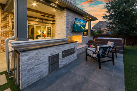 Outdoor Living Kitchen Area