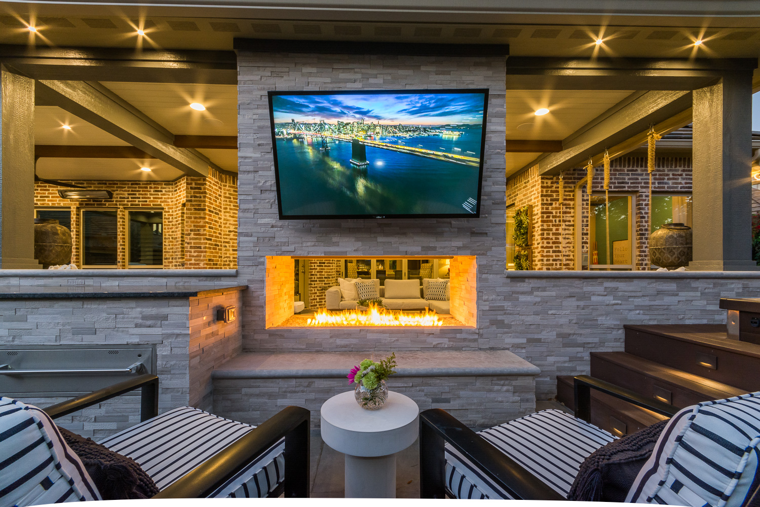 outdoor entertainment center by compass outdoor design dfw